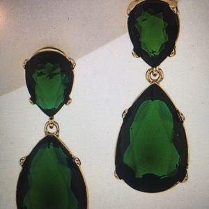 Kenneth Jay Lane Jolie drop emerald green earrings